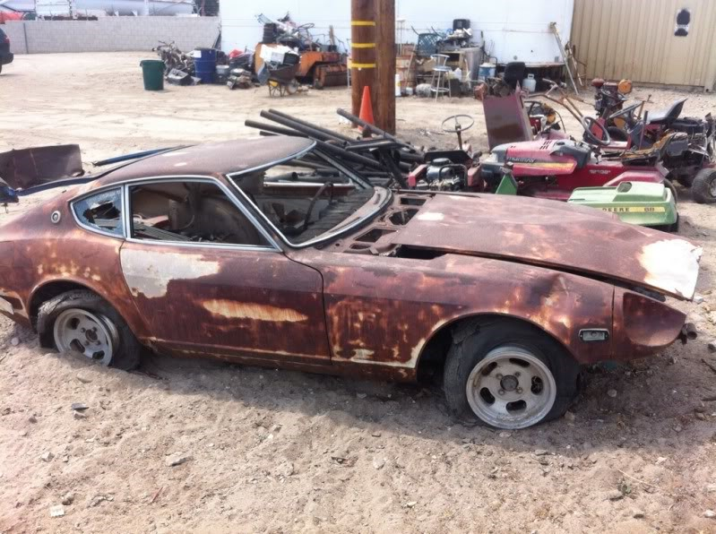 Unfortunately This Rust Bucket Of A 240z Only Has Value As Parts Car For The Good It Still Intact